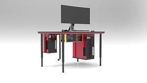 BGS Modular Console & PC Gaming Table - Tower Console & PC Tower Cavity Combo