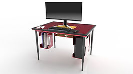 BGS Modular Console & PC Gaming Table with Next Gen Tower Console Cavity with PS 5 and PC Tower Cavity