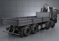 MAN TGS Flatbed Crane Truck 4-axis