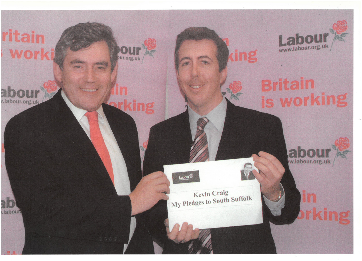 Kevin Craig with Gordon Brown