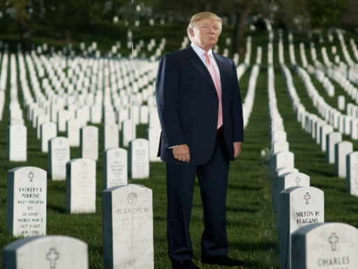 "Trump among ""Losers and Suckers"" at Arlington"