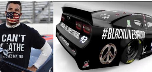 Bubba Wallace To Drive NASCAR BLM Car.