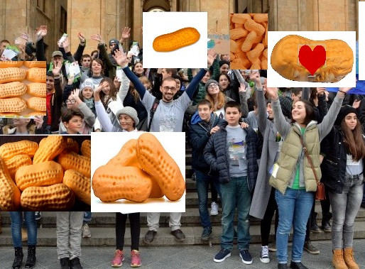 People protest UN Circus Peanut lowest food declaration.