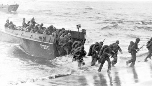 Antifa troops land at Normandy