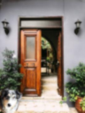 opened-brown-wooden-french-door-dog.jpg