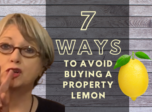 How To Avoid Buying A Property Lemon