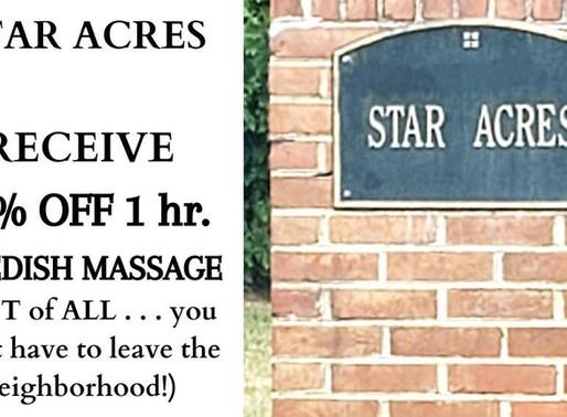 Massage Deal for Star Acres