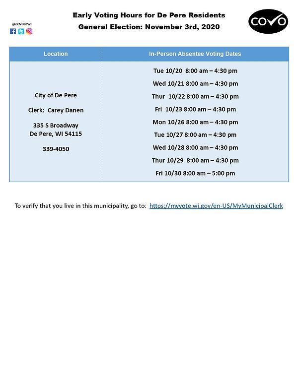 Early Voting Hours for DePere Nov 3.jpg
