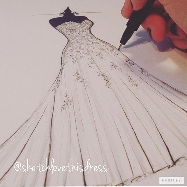 Mais um Sketch de noiva para imortalizar esse vestido tão especial!❤️_Aproveita nossa promoção de 50