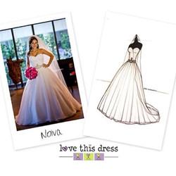 Ontem postei o Sketch de Noiva decorando o casamento, olha ele aqui! Ilustração por www.lovethisdres
