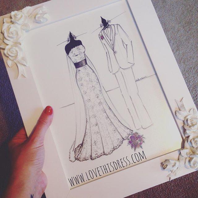 Outro Sketch dos Noivos prontinho para entregar! Ilustração Love This Dress - www.lovethisdress