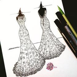 Mais uma das minhas ilustrações com o Sketch frente e verso e o buquê, que vão trazer lembranças mui