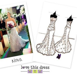 Sketch frente e verso da Noiva e o Sapato -Ilustração Love This Dress_• • • 🇺🇸 Front and Back Brid