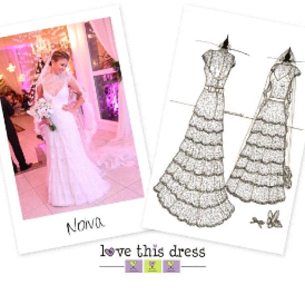 Hoje tem o sketch do vestido lindooo da _adellecristine lá no site!