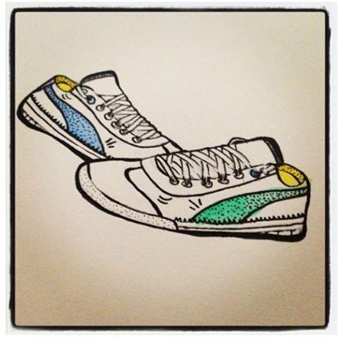 Bom dia com o Sketch que eu fiz do tênis que eu adoro, do meu marido! ______________________________