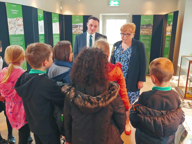 Joe, Shona and Balgreen Primary children. Official opening of Saughton Park 6th June 2019.