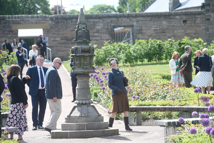 Sundial, Pete and HRH Princess Anne. Official opening of Saughton Park 6th June 2019.