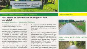 Progress on Saughton Park Construction