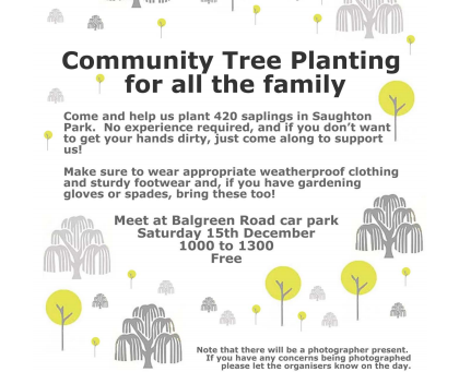 Update 13th December: Community Tree Planting Postponed