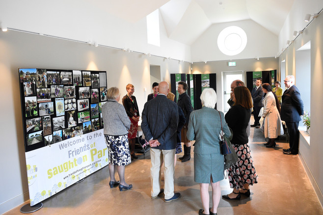 Wildlife and History groups, McHattie Room,offcial opening of Saughton Park, 6th June 2019.