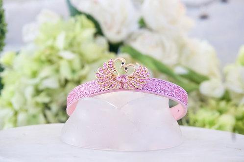 NEW! Swan Lake Pink Crystal Pet Collar
