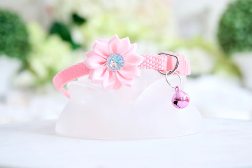 NEW! Luxury Barbie Pink Crystal Flower Breakaway Pet Collar