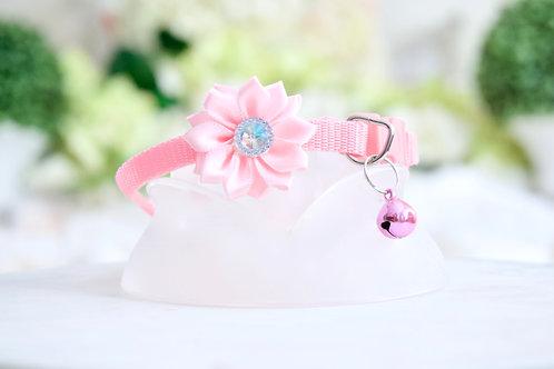 NEW! Luxury Barbie Pink Crystal Flower Breakaway Pet Collar