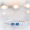 Thumbnail: Luxury Blue Crystal Bow Tie Pearl Pet Collar
