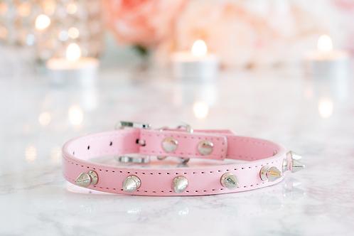Luxury Pink Spike Vegan Pet Collar