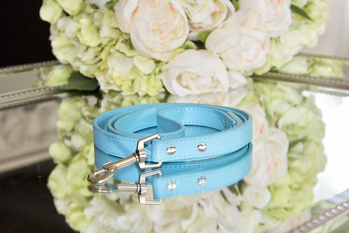 Luxury Tiffany Blue Vegan Leather Pet Leash