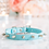 Thumbnail: Luxury Tiffany Blue Spike Vegan Pet Collar