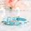 Thumbnail: Luxury 2 Piece Set Tiffany Blue Spike Vegan Pet Collar & Leash