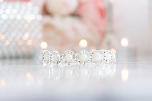 Luxury Pearl Crystal Rhinestone Pet Collar