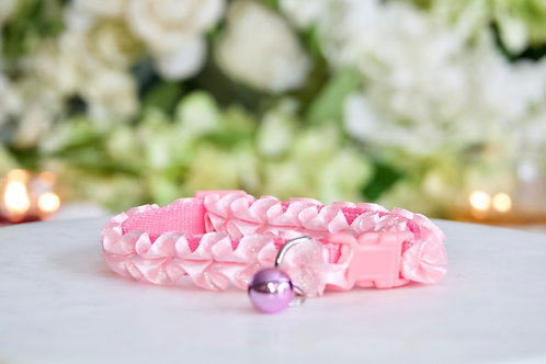 NEW! Luxury Barbie Pink Ruffle Breakaway Pet Collar