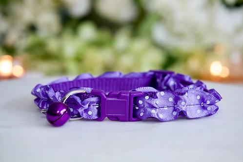 NEW! Luxury Unicorn Purple Ruffle Breakaway Pet Collar