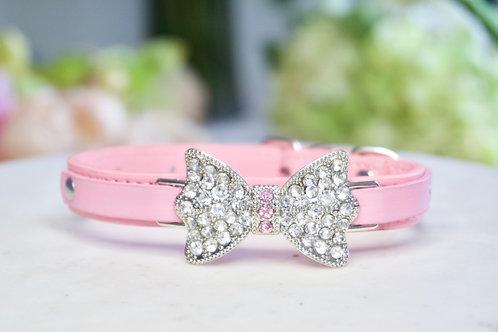 Luxury Matte Pink Pet Collar