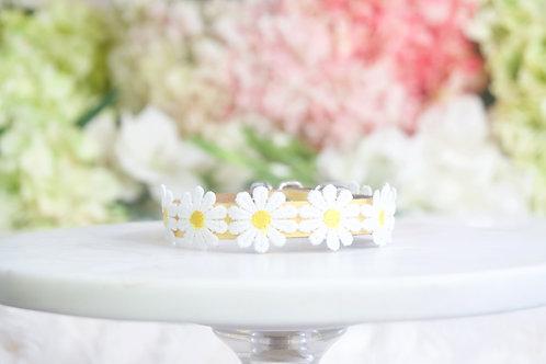 NEW! Luxury Sunshine Daisy Flower Pet Collar