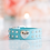 Thumbnail: 2 Piece Set Tiffany Blue Heart Rhinestone Pet Collar & Leash Set