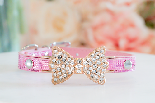 Luxury Princess Aurora Pink Rhinestone Pet Collar