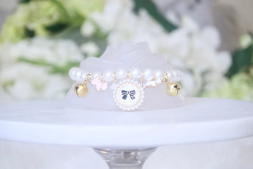 NEW! Socialite Pearl, Crystal & Bow Pet Collar