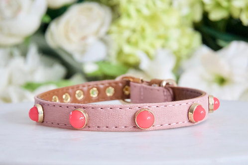 NEW! Luxury Venus Pink Moonstone Pet Collar