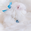 Thumbnail: NEW! Luxury Prince Charming Sapphire Blue Heart Rhinestone & Pearl Pet Collar