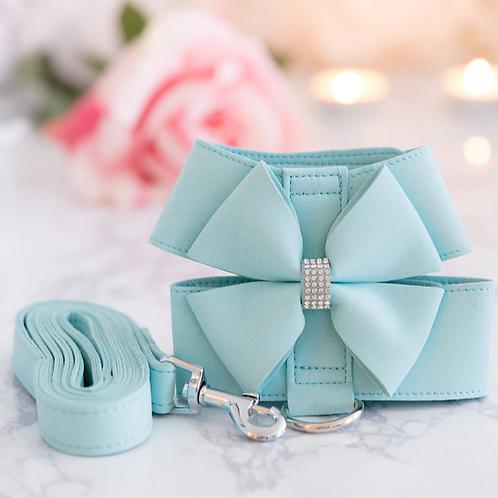Tiffany Blue Soft Wearable Harness + Leash Set