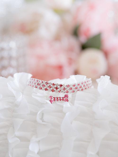 Luxury Pink Crystal Rhinestone Pet Collar