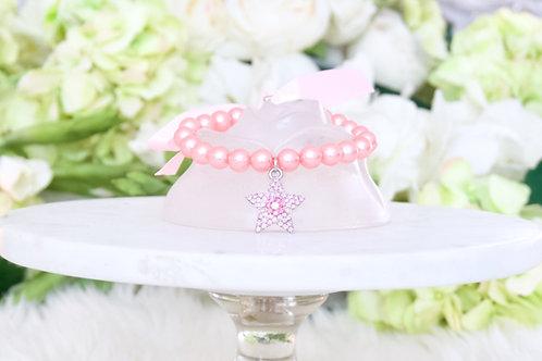 NEW! Star Girl Pet Collar Pink Rhinestones & Pearls