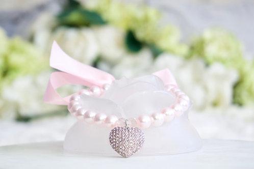 NEW! Luxury Queen of Hearts Pink Rhinestone & Pearl Pet Collar