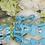 Thumbnail: Luxury Tiffany Blue Pet Sliding Harness Leash set