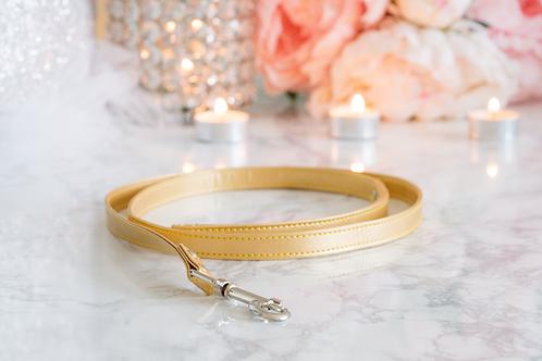 Luxury Gold Leash Vegan Leather