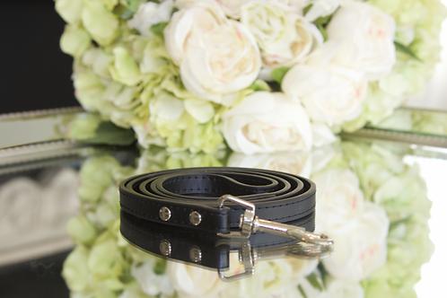 Luxury Leash Black Beauty Vegan Leather