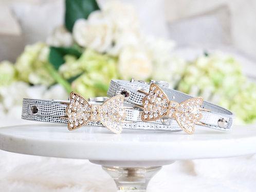 Luxury Silver Rhinestone Pet Collar